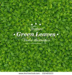 stock vector : Green leaves texture. Vector illustration.