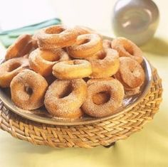 Easy Bread Recipes, Portuguese Recipes, Cookies, Onion Rings, Coffee Break, Doughnut, Donuts, Cereal, Deserts