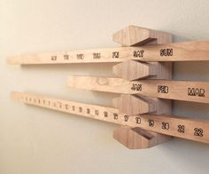 Perpetual Wooden Calendar