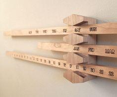 DIY Perpetual Calendar #woodworking