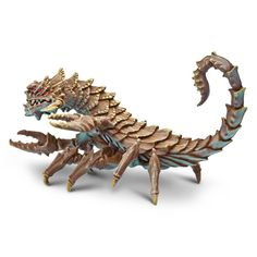 Whoa, this is cool! This is the Desert Dragon Fantasy Figure that is produced by Safari. Safari is well known for making accurate and highly detailed figures related to the world of the natural scienc