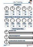 """Es handelt sich um Tagestrainings - #Zeit / #Uhr - Arbeitsblätter aus der #1Klasse, zum Vertiefen der Rechenfertigkeit.  Verschiedene Übungen wie """"Zeichne Zeiger ein, fehlende #Uhrzeiten eintragen """" und jeweils 3 #Textaufgaben sind auf einem Übungsblatt. 10 Arbeitsblätter + 10 Lösungsblätter mit ausführlichen Lösungen."""