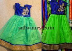 Long Frocks in Green | Indian Dresses