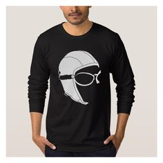 """The Aviator"" Long-sleeve T-shirt Black .Unisex 100% Fine Jersey cotton . click here to see more  http://www.zazzle.co.uk/collections/the_aviator_apparel-119356024813720136  #longsleeve #man #blacktshirt #aviator  #aviatorstyle #pilot #aviation #giftidea #blacklongsleeve #mens #casual #shirt"