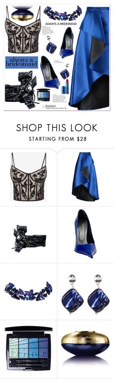 """Always a Bridesmaid and PaoloShoes"" by spenderellastyle ❤ liked on Polyvore featuring Alexander McQueen, Badgley Mischka, Paolo Shoes, Christian Lacroix, Kenneth Cole, Christian Dior, Guerlain and Lipstick Queen"