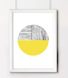 Yellow Geometric Poster, Yellow Circle Geometric Poster Print, Best Selling Poster, Minimalist Wall Art, Summer Print, Geometric Wall Art,