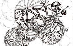 Tattoo design for a friend.based on the Astronomical Clock in Prague Gears Tattoo Clock Tattoo Design, Tattoo Designs, Clock Tattoos, Tattoo Ideas, Gear Tattoo, I Tattoo, Spider Web Tattoo, Retro Futuristic, Stencil Art