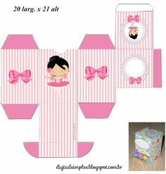 "Custom Theme Kit ""Ballerina Rose"" for Print - Simple Digital Invitations Box Templates Printable Free, Paper Box Template, Dora, Diy And Crafts, Paper Crafts, Ballerina Birthday, Diy Gift Box, Bday Girl, Baby Scrapbook"