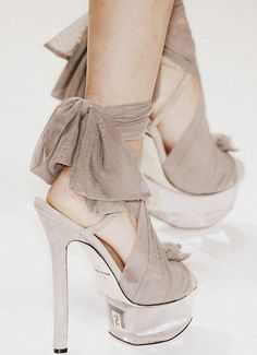 "Here's my fantasy : dressing up like Stevie Nicks in ""Gypsy"" with these shoes, and riding a beautiful long flowing haired stark white horse! Ha! Magical! ...one day..."