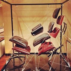 Deconstructed Eames Lounge Chair at The Henry Ford Museum Chair Design, Furniture Design, Henry Ford Museum, Exploded View, Charles & Ray Eames, Eames Chairs, Room Chairs, Mid Century Modern Design, Chair And Ottoman