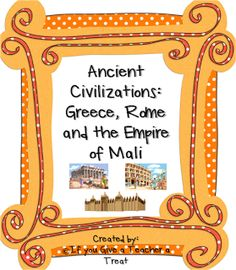 Thank you Lindsay for the fabulous packet. Ancient Civilizations: Greece, Rome, and the Empire of Mali. :)