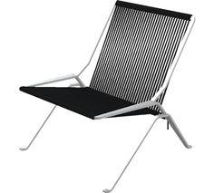 Fritz Hansen PK25 - PK25, Lounge chair, Flag Halyard, Black