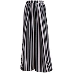 Vertical Striped Wide Leg Palazzo Pants ($21) ❤ liked on Polyvore featuring pants, sammydress, wide leg palazzo trousers, palazzo pants, wide leg trousers, wide-leg pants and vertical stripe pants