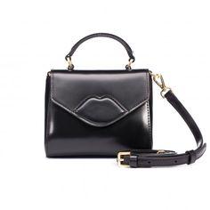 Black Polished Leather Mini Izzy