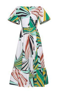 Safari Caped Sleeve A Line Dress by EMILIO PUCCI for Preorder on Moda Operandi