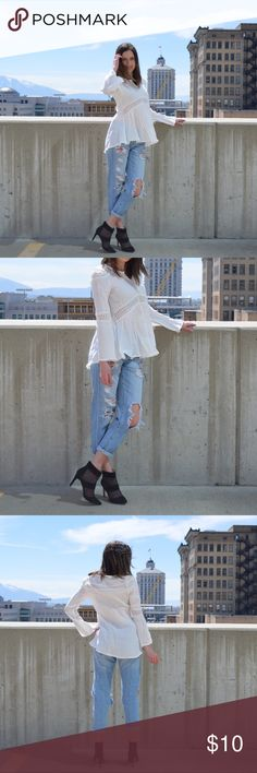 White lace top White lace top. Super fun and adorable. Tops Blouses