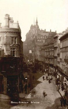 Bull Street 1922 Birmingham City Centre, Birmingham England, West Midlands, Old Pictures, Glasgow, Old Town, Paris Skyline, United Kingdom, Cities