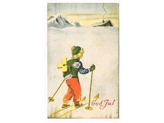 Erling Nielsen julekort Norsk Arbeide stp 1947