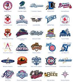 All of the Triple-A Baseball Logos Triple A Baseball, Milb Teams, Baseball Teams, Norfolk Tides, Toledo Mud Hens, Louisville Bats, Charlotte Knights, Sports Art, Sports Logos