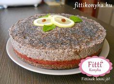 Fitti Konyha: Fitti meggyes-mákos torta (sütés nélkül)