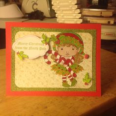 Northpole card using Lala stamps