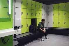 Lockers for Leisure - changing room furniture designed, manufactured and installed by Craftsman Lockers Sports Locker, Gym Lockers, Room Furniture Design, Changing Room, Gym Design, Vanity Units, Bespoke, Craftsman, Rooms