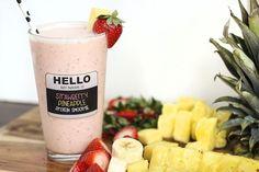 strawberry pineapple protein smoothie