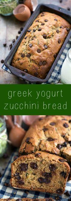Healthier Greek yogurt zucchini bread - no sacrificing flavor, but lots of healthy swaps!