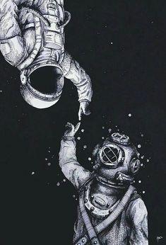 art, astronauts, backgrounds, cute, indie, mercury, moon, night, pale, space, venus, vintage, world, lockscreen
