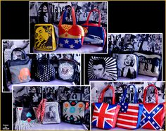 Novas Bolsas da Traça! Cash, Beatles, Elvis, Marilyn, Ramones, Laranja Mecânica. Jhonny & June, Mulher Maravilha...
