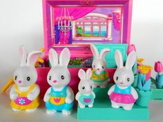 Vintage Takara Playmates Furry Families Bunny Family by 2bcre8iv