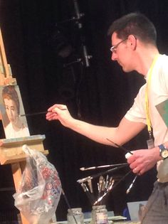 Norman Long oil painting demonstration: adding colour and tone