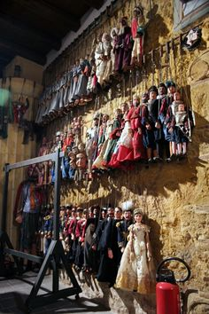 """The """"Opera dei Pupi"""" is a type of puppet theater, in which the protagonists are Charlemagne and his paladins. The exploits of these characters are handled through the reworking of the material contained in novels and poems of the Carolingian cycle. The work is typical of the Sicilian tradition of """"cuntastori"""" (not to be confused with the """"storyteller"""" who recounted events). #sicily #pupi #tradition #opera #sicilia"""