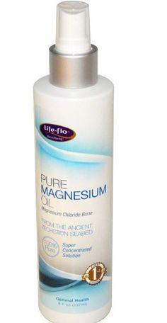 Pure Magnesium Oil 8 oz (237 ml) Spray Ancient Zechstein Minerals Natural Health #lifeflohealth