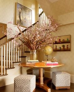 Sure Fit Slipcovers: Decorate Those Empty Corners Of The Home! - In the corner and by the stairs in the foyer.