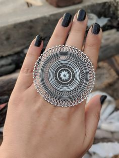 Afghani Jewelery,Afghani dual tone adjustable ring in high quality German Silver Sterling Necklaces, Sterling Silver Jewelry, Silver Rings, Oxidized Silver, Silver Bracelets, Antique Silver, 925 Silver, Antique Jewellery Designs, Antique Jewelry