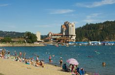 Coeur d' Alene, Idaho :) One of my favorite places to go! The lake is huge and the beach is awesome!! :-)