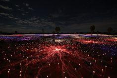 Ultimate nighttime selfie: Astonishing 'Field of Light' arrives at Australia's Uluru - LA Times