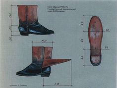 Boots of the sample in 1795 (?). The State Memorial Suvorov Museum
