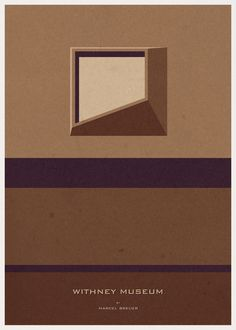 withney museum - Marcel Breuer  iconic architecture illustrations by andré chiote