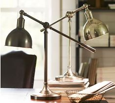 Cole Task Table Lamp #potterybarn $149.  Similar one at Home Depot $33.95.
