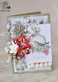 Retro Inspiracje: Marta kartkuje / Retro Inspirations: Marta's card-making