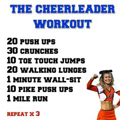 The Cheerleader Workout....ahh the good ol' days