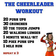 The Cheerleader Workout....ahh the good ol' days