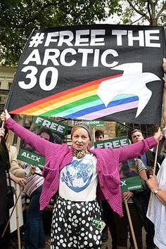Vivienne Westwood: Vivienne Westwood at a Greenpeace protest www.itsalight.co.uk #fashion