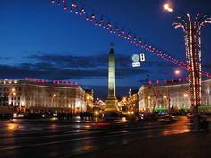 Siegesplatz in der Hauptstadt Minsk // Victory-square ◆Weißrussland – Wikipedia http://de.wikipedia.org/wiki/Wei%C3%9Frussland #Belarus