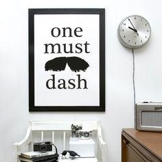 'One Must Dash'