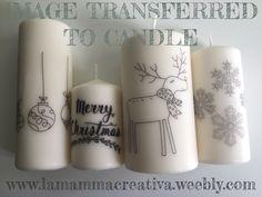 How to transfer an image to a candle. Come trasferire un'immagine su una candela.