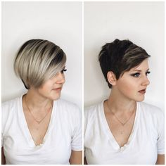 "264 Likes, 24 Comments - ✂️Artist| Blondes |Balayage (@evanstowers) on Instagram: ""Razor Cut/Before & After// #hairbyevanstowers #razorcut #pixie #beforeandafter #utahblogger #color"""