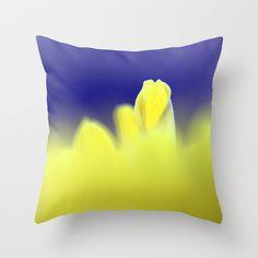 Yellow Petal 314 Throw Pillow by metamorphosa - $20.00